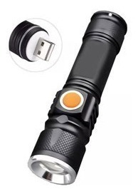 Kit 10 Mini Lanterna Recarregável Usb C/ Zoom