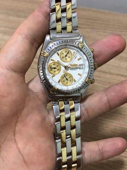 Relógio Breitling 1884 Original, Aço E Ouro