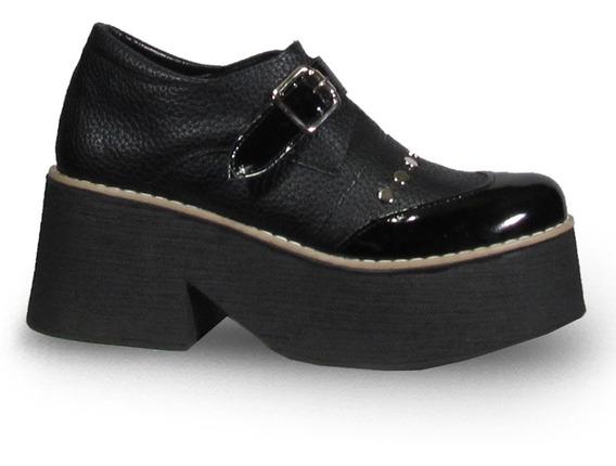 Coral 230 Zapato Mocasin Taco Plataforma Moda Mujer