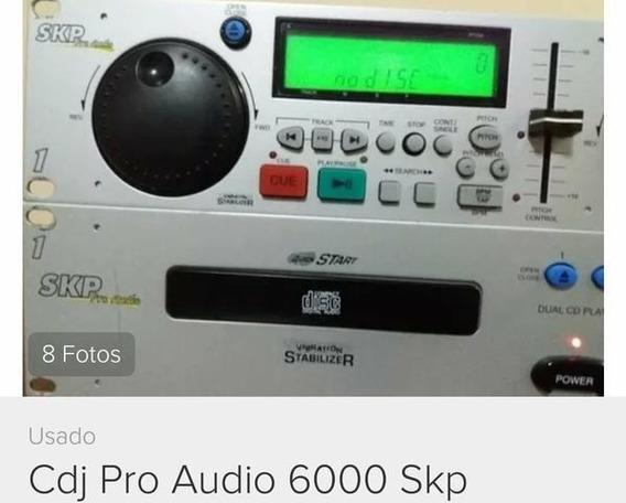 Cdj Duplo Skp 6000 Com Caixa E Manual Lindo Festa Dj Top