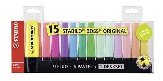 Estojo De Marca Texto Stabilo Boss Com 15 Cores 58.0900