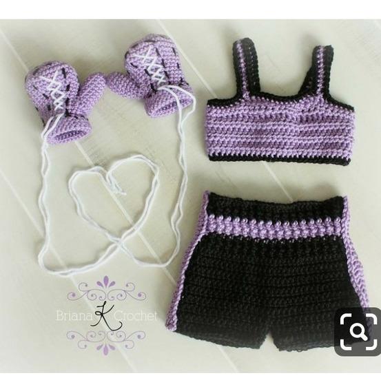 Conjunto Boxeadora Newborn De Croche