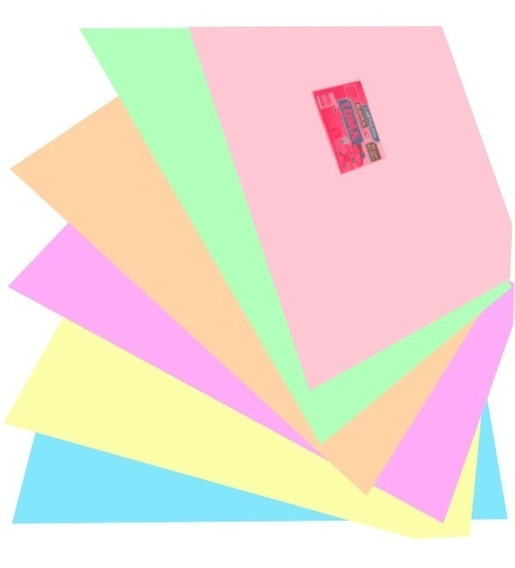 Cartulina Escolar Luma 45x63cm Colores Pastel Calidad X 60un