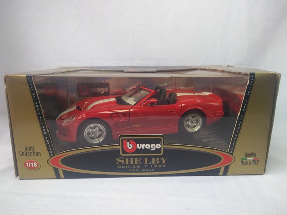 Shelby Series 1 1999 Miniatura Escala 1/18 Bburago Na Caixa