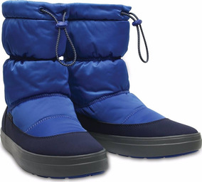 Bota Mujer Crocs Lodgepoint Shiny Pull On W Blue