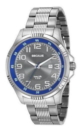 Relógio Masculino Seculus 20578g0svna1 Casual Prateado