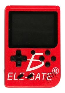 Mini Consola Recagable De Videojuegos Retro 400 Juegos Rojo