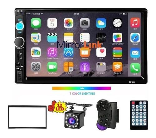 Estéreo Mirrorlink Pantalla Táctil 7 Pulgadas Hd Bluetooth