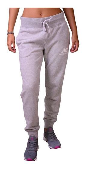 New Balance Pantalon Ess W Gris
