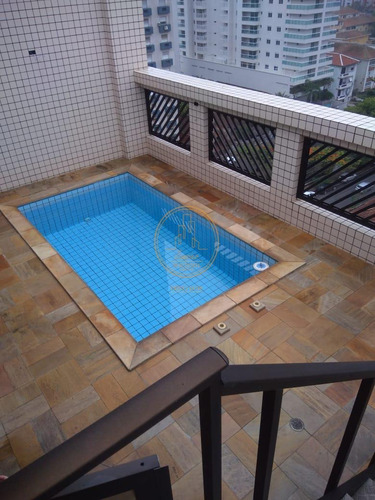 Cobertura  Com 4 Dormitório(s) Localizado(a) No Bairro Aparecida Em Santos / Santos  - 6661