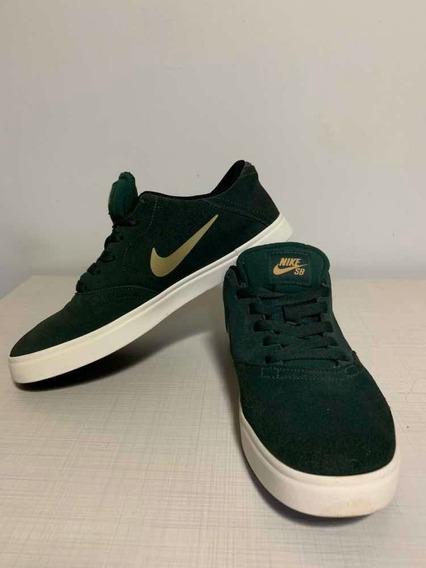 Tênis Nike Sb Verde E Dourado Tamanho 40 Usado