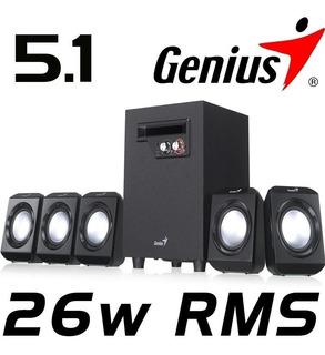 Parlantes Genius Sw 5.1 1020 26 W Para Pc Y Teatro En Casa