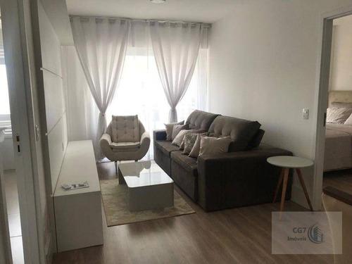 Apartamento Com 1 Dormitório Para Alugar, 50 M² Por R$ 3.000,00/mês - Alphaville Industrial - Barueri/sp - Ap1046