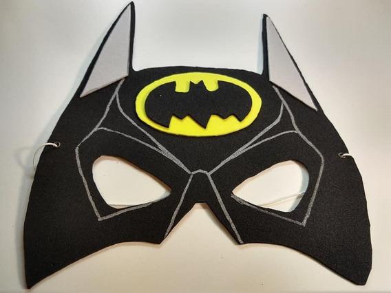 Máscara Antifaz Batman Y Batichica En Goma Eva X 10