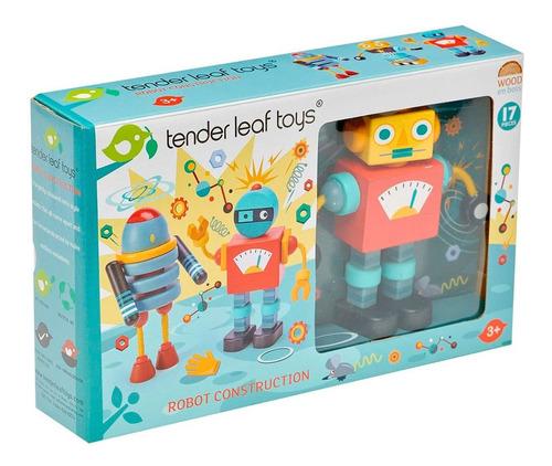 Imagen 1 de 5 de Juguete Robots Tender Leaf Toys Construccion De Madera 17pcs