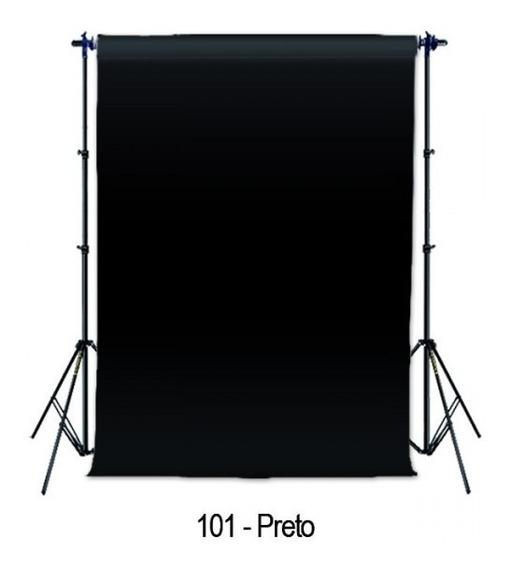 Fundo Fotográfico Para Vídeos E Fotos 2,70 X 11,0 M - Preto