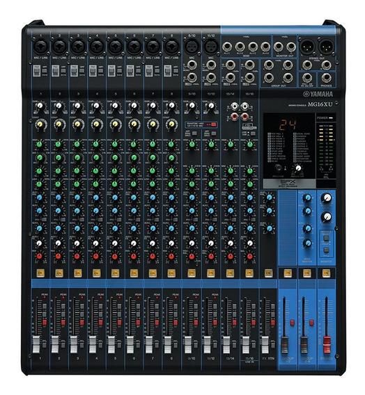 Mesa De Som Yamaha Mg16xu 16 Canais Com Efeitos + Usb + 1 Ano De Garantia + Nota Fiscal