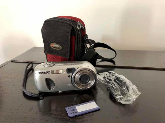 Camera Digital Sony Dsc-p73 Funcionando Com Acessórios