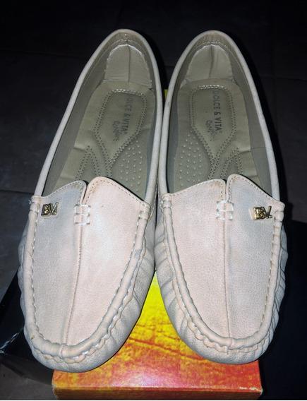 Zapatos Mocasines Zapatillas Cuero Dolce Vita Talla 41