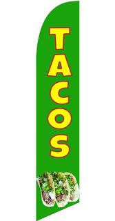 Tacos #51-x Banderas Publicitarias Kit Completo