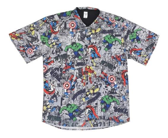 Camisa Vingadores Gibi Heróis Pai Adulto