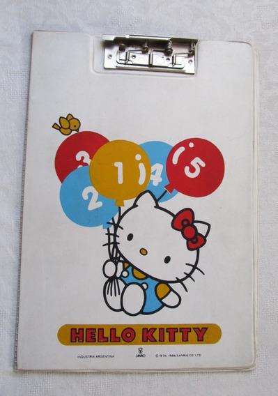Tabla Para Escribir Con Clip Antigua Hello Kitty