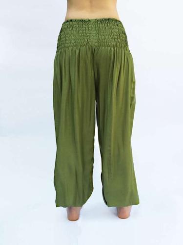 Pantalon Yogui Para Mujer Color Verde Dos Bolsillos Mercado Libre