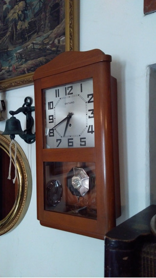 Reloj De Pared Ontario Francés Años 60s