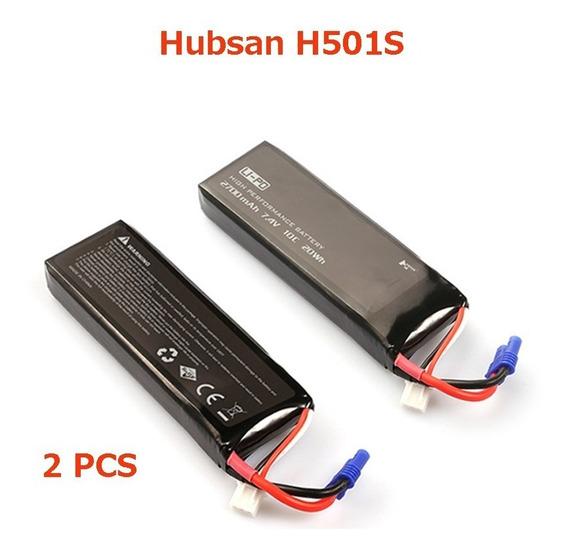 2 Baterias Hubsan 501s 7.4v 2700mah 10c Frete Gratis