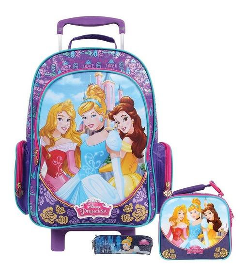 Kit Mochilete Princesas 30400 +lancheira 30398+ Estojo 30100