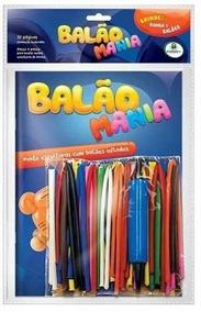Kit Bexiga Balão Mania + Bomba P/ Encher +livro