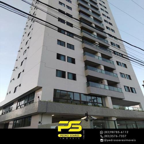 Apartamento Com 3 Dormitórios À Venda, 97 M² Por R$ 500.000 - Manaíra - João Pessoa/pb - Ap3359