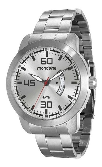 Relógio Mondaine Masculino Social Prateado 78652g0mvna1