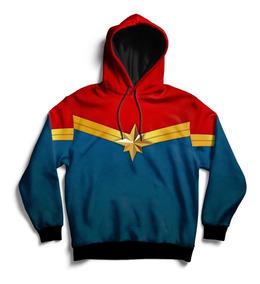 Buzo Capitana Marvel Con Capucha ( Fullprint )
