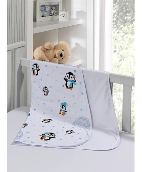 Cueiro Duplo Malha 100% Algodão Kinder Pinguim Tecebem