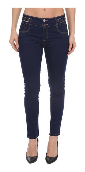 Jeans Studio F Stertch, Sin Bolsos Detalle Oro Pump Up 398l