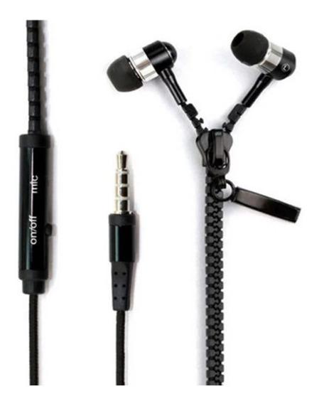 Fone De Ouvido Original Ziper Estéreo Com Microfone