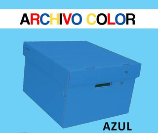 Caja Archivo Carton Corrugado Reforzado Color 42x33x25