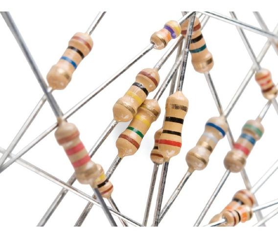 5000 Resistores De Carvão Cr25 1/4w 5% De 1,0r A 15m