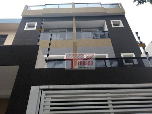 Cobertura À Venda, 46 M² Por R$ 350.000,00 - Vila Cecília Maria - Santo André/sp - Co0621
