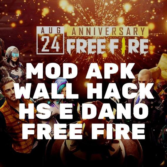 Mod Apk Free Fire Wall Hack Com Hs E Dano Emulador E Celular