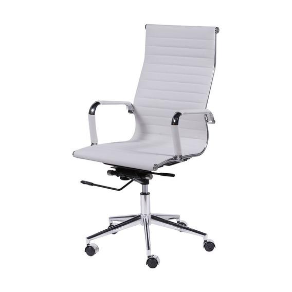 Cadeira Escritorio Presidente Giratória Alta Eames Branca