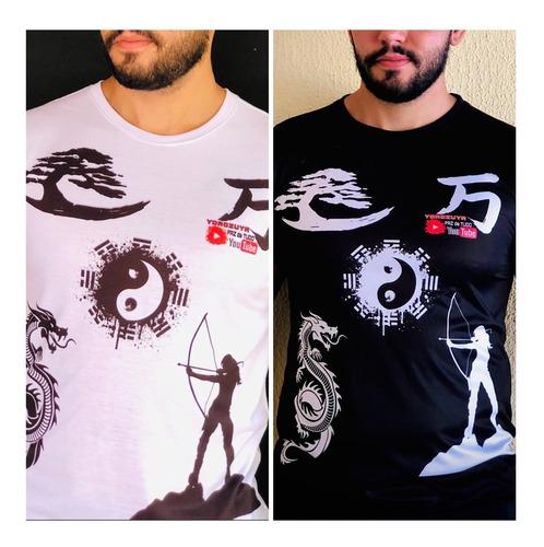Imagem 1 de 9 de Kit 2 Camisa Preta+branca Tradicional Yorozuya+ Frete Grátis
