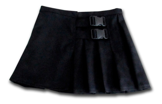 Falda Hebillas Ulzzang Dark Punk Corta Tableada Xs-4xl