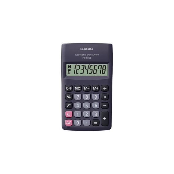 Paquete De 10 Calculadoras Portátil Casio Hl-815l-bk