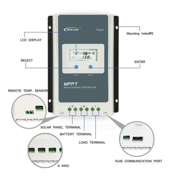 Controlador De Carga Solar Epever Mppt 40a Envio Rápido