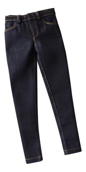 Calças Jeans Masculinas 1/6 Calças Fit Para 12 Polegadas F