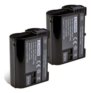 2 Pack De Baterías En-el15b Para Nikon Z6, Z7, D850, D7...