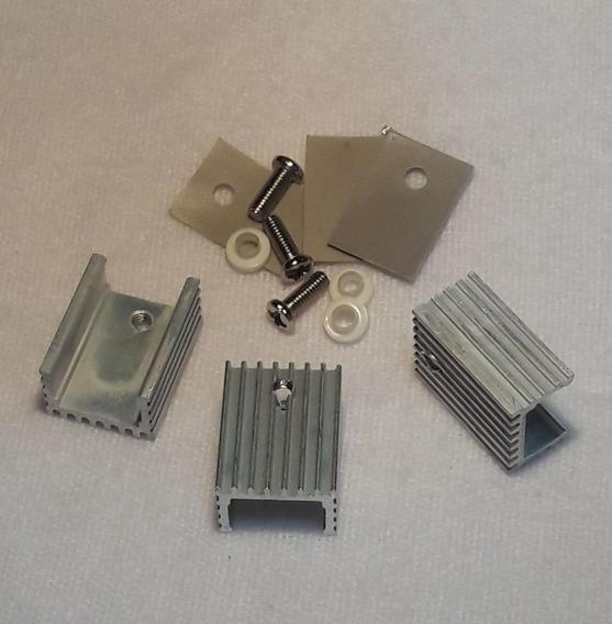 3x Dissipador Alumínio Uso Geral 20 X 15 X 10 Mm Frete $12