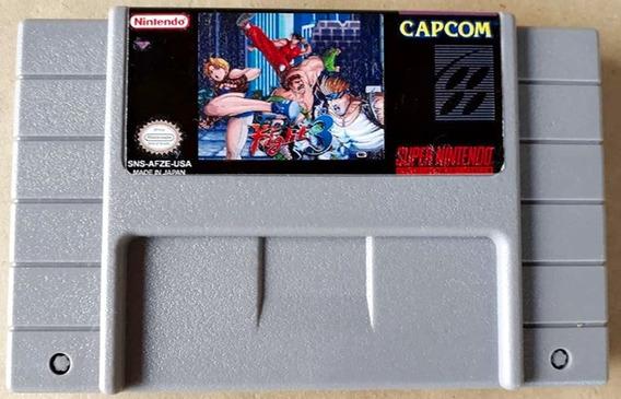 Jogo Final Fight 3 Super Nintendo Snes Ff3 Cartucho Luta Rua